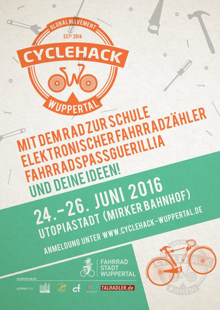 dieses wochenende cyclehack wuppertal talradler. Black Bedroom Furniture Sets. Home Design Ideas